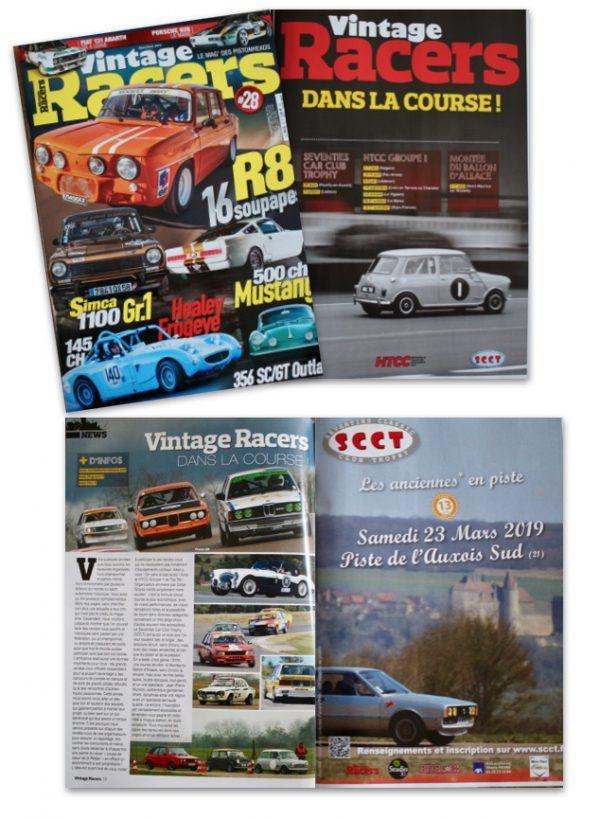 Le S.C.C.T. dans la gazette Vintage Racers