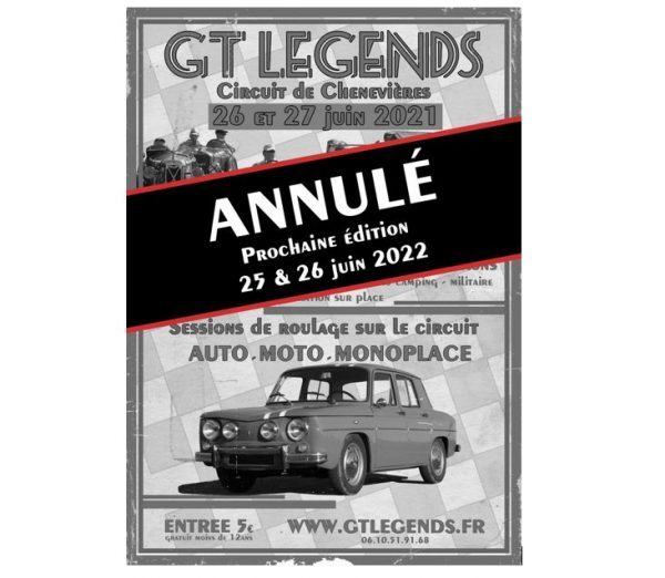 Festival GT Legends 26/27 juin 2021 ANNULÉ